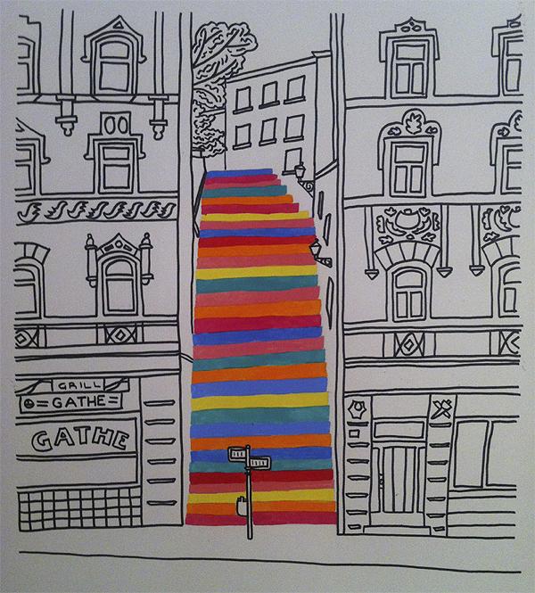 szivárványos lépcső (aracelisrandomness.wordpress.com)
