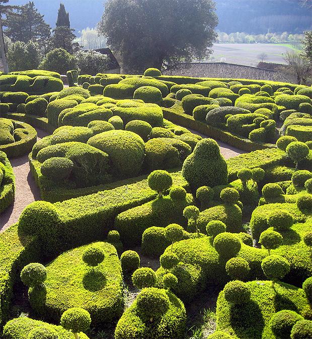 a Marqueyssac kastély kertje