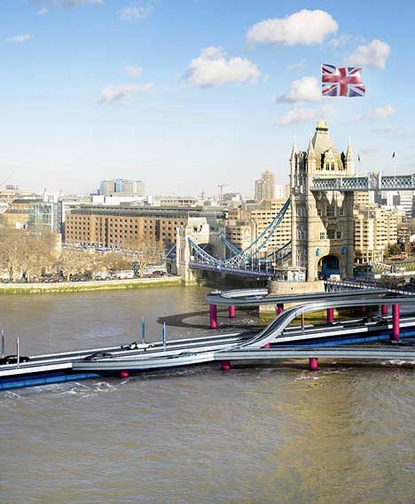 London, út a Temzén az olimpiára (dezeen.com)