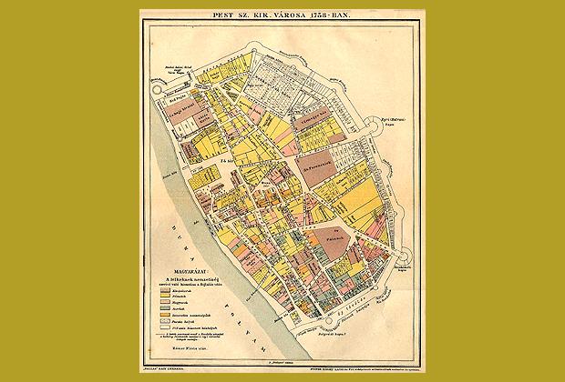 Budapest térkép, 1758