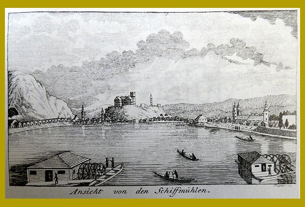 illusztráció Pest városának első útikönyvéből, 1803.