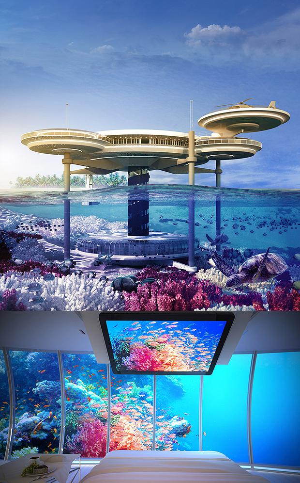 víz alatti szálloda (designboom.com)