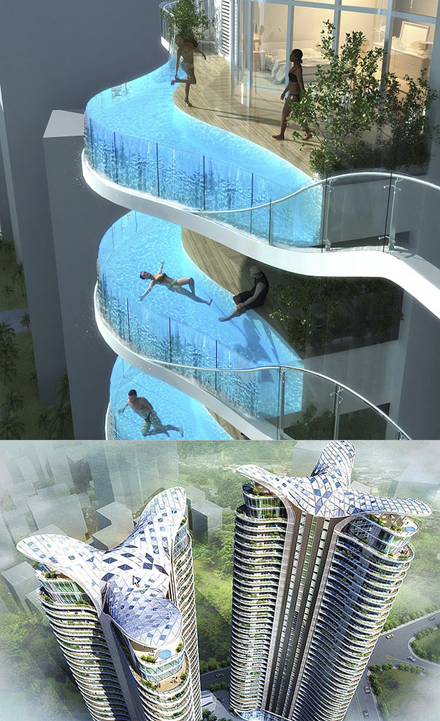 Mumbai, India - Aquaria Grande Towers (forrás: cubeme.com)