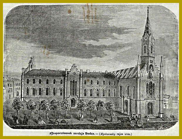Kapucinus templom, Buda 1864. november 6. (epa.oszk.hu)