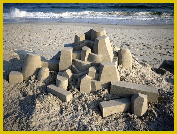 modern homokvárak