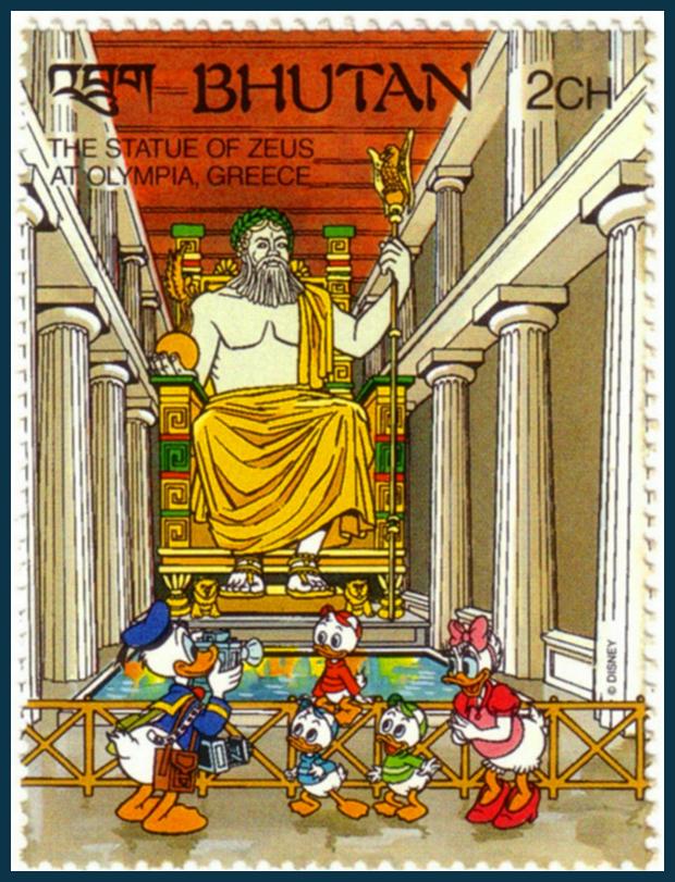 Pheidiasz olümpiai Zeusz-szobra - a világ hét csodája Disney-ékkel