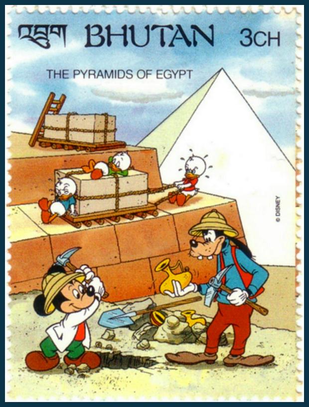 Az ókori világ hét csodája - Walt Disney bélyegsorozaton - A gízai piramisok egyiptomban