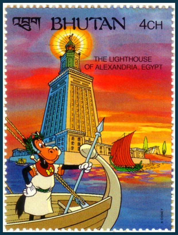 A pharoszi világítótorony, Alexandria, Egyiptom - Disney figurák és a világ 7 csodája