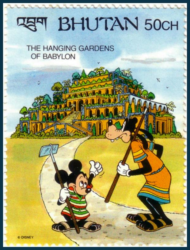 Szemiramisz függőkertje, Babilon - az ókori világ 7 csodája és Disney-ék