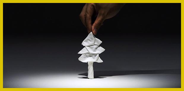 fenyőfa - papírzsepiből