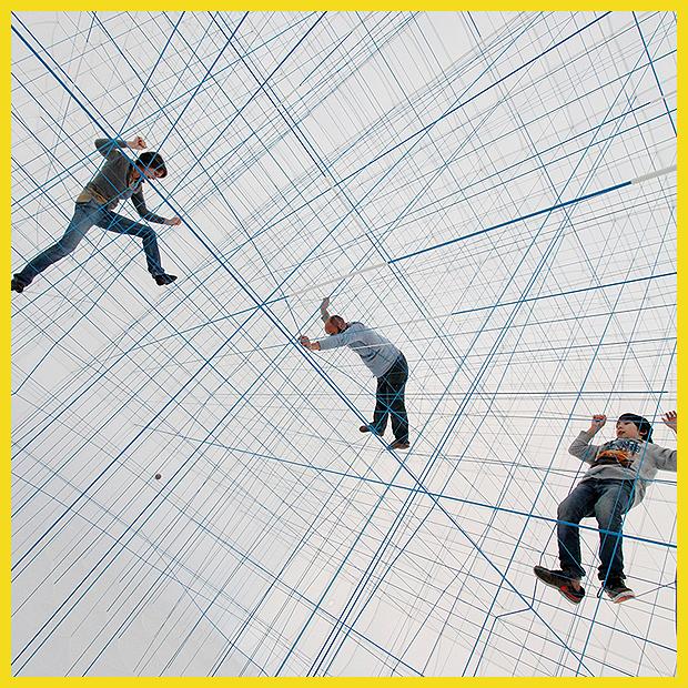játékos belső tér kötélhálóból