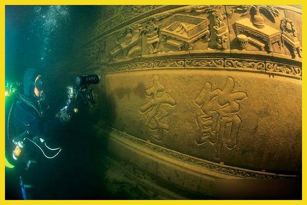 ősi város a tóban - most már látogatható - Kína