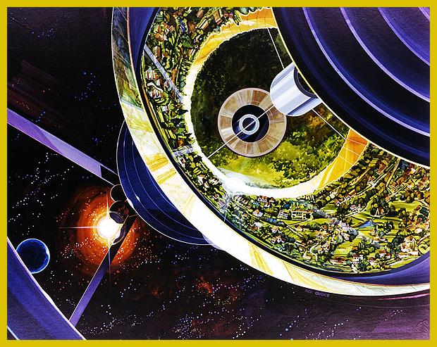 űrkolóniák tervei az 1970-es évekből
