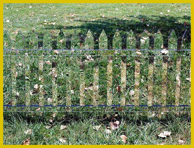 az állandóan változó kerítés - kerítés tükörrel