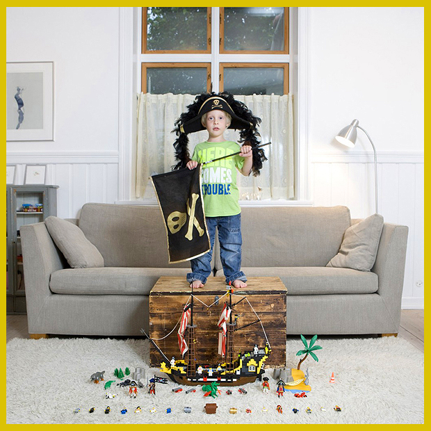 az 5 éves kalóz kapitány kedvenc játékai és szobája -  Bergen, Norvégia