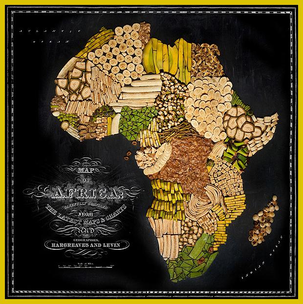 Afriaka - ételtérkép banánból