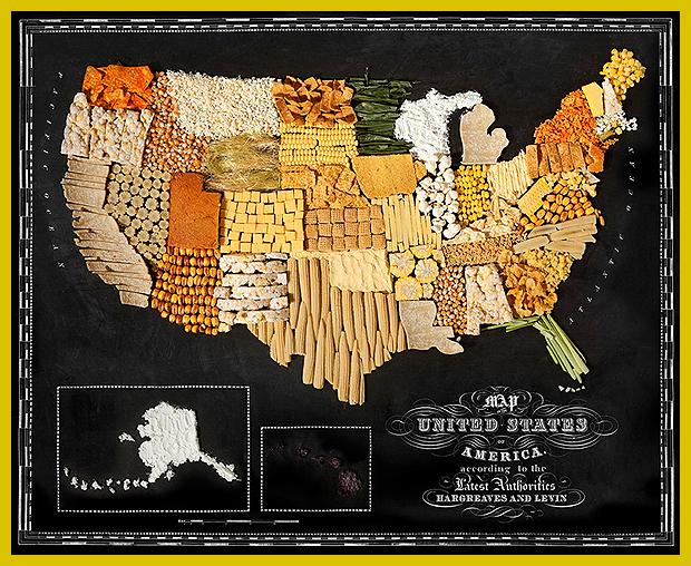 Ameriaka - kukorica térképe - ínycsiklandó térképsorzat