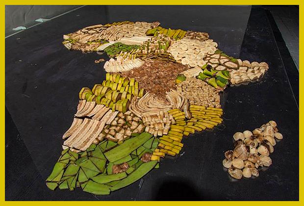így készült: ételtérképek - Afrika sok-sok banánból