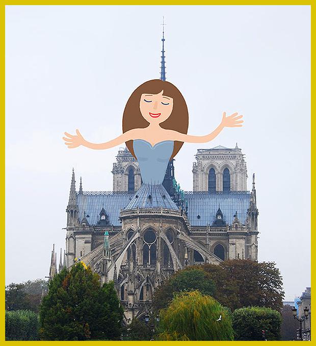 """az """"Öreg Hölgy"""" avagy a párizsi Notre-Dame székesegyház fiatalon - Tineke Meirink illusztrátor"""