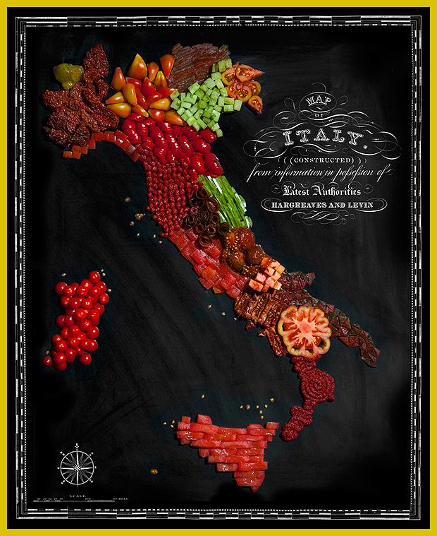 Olaszország - gasztronómia - ínycsiklandó ételtérkép