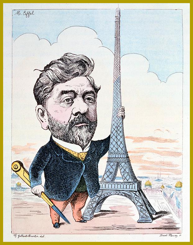 Gustav Eiffel és az Eiffel-torony, Párizs, Franciaország - 2014-ben 125 éves az Eiffel-torony