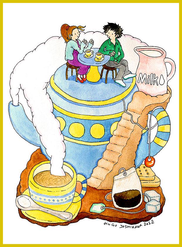 Tea-sziget - angolosan - meseszerű illusztrációk