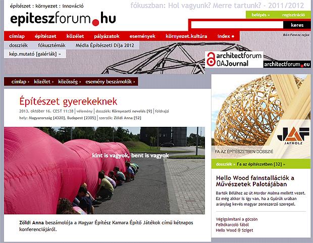 Építészet gyerekeknek - ludbriko.hu (is) az epiteszforum.hu-n - Zöldi Anna írása