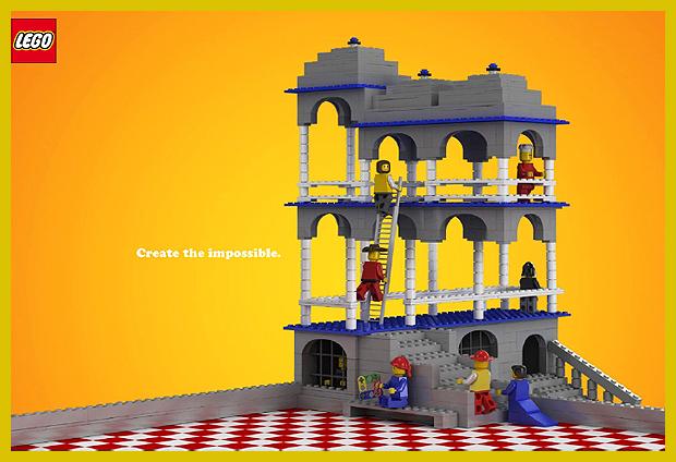 egy lehetetlen épület és a Lego - M.C. Escher - Belvedere