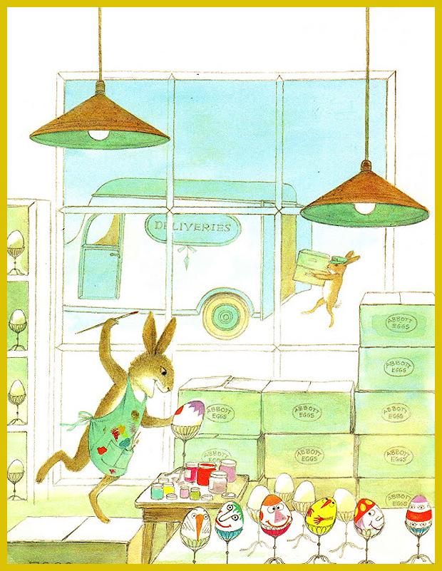 mókás, egyedi hímes tojások - Adrienne Adams gyerekkönyv illusztrátor 1976.