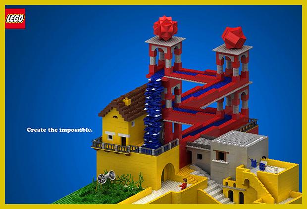 Vízesés - M.C. Escer lehetetlen épülete és a Lego