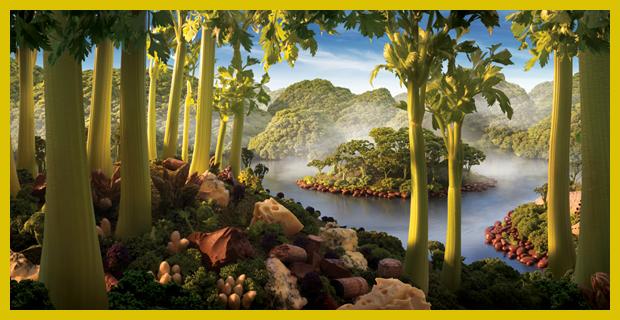 zeller sziget - tájképek zöldségekből, gyümölcsökből - mesés képek