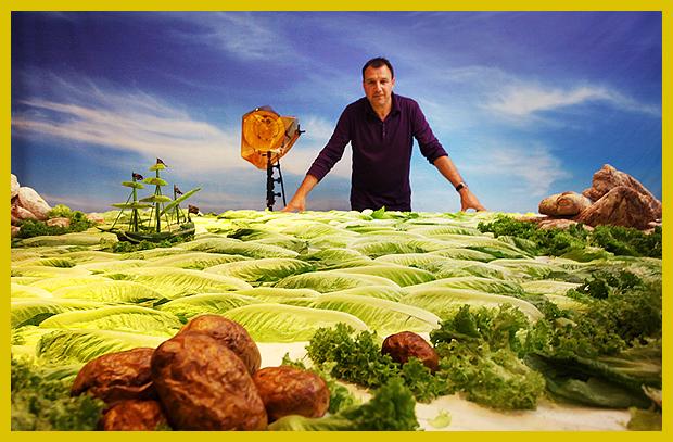 Carl Warner - fotográfus, az ételtájképek alkotója