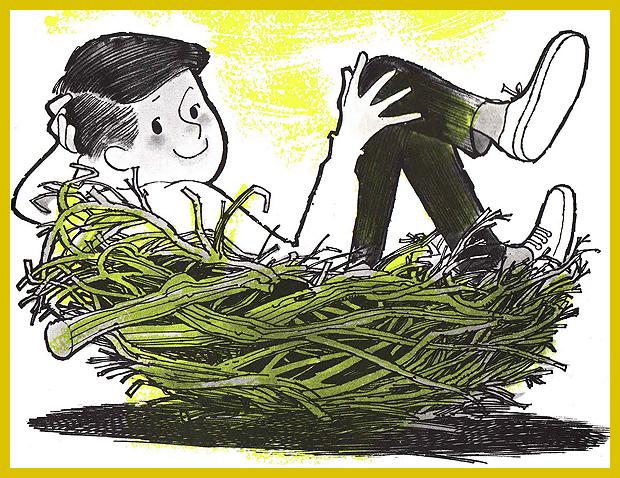 az én fészkem az én kuckóm  - gyerekkönyv illusztráció
