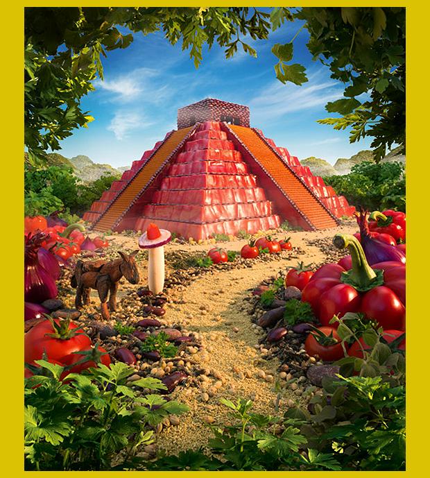 Chichén Itzá romváros, Mexikó - a helyi konyha jellegzetességeiből készült