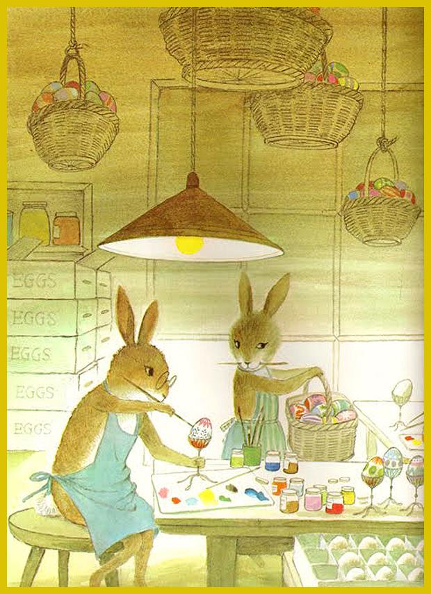 az Abott család tojásfestés közben - húsvéti mesekönyv