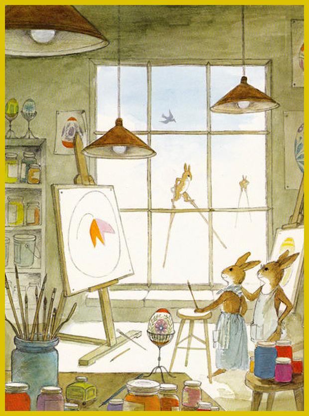 a nyúlfi a festőiskolában - gyermekkönyv 1976.