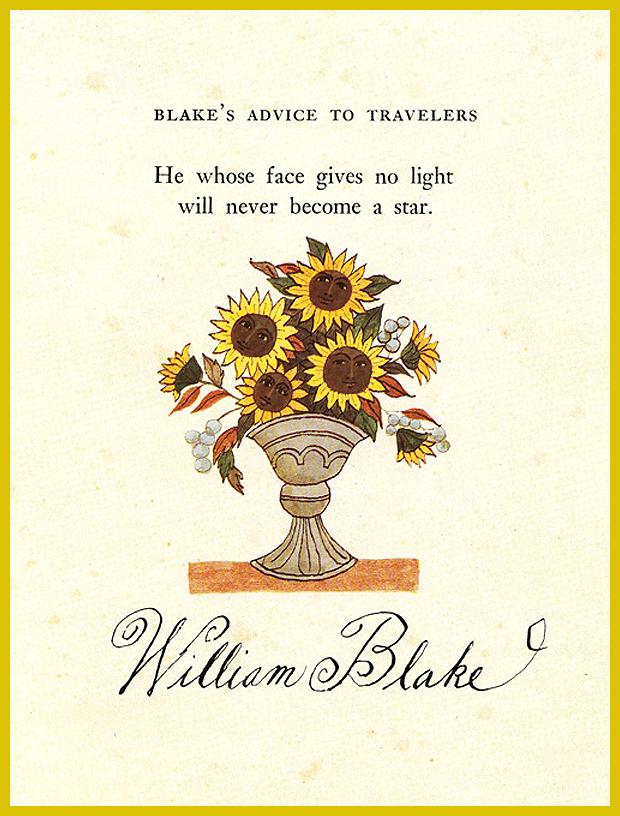 William Blake tanácsa utazóknak - vendégségben a költő, festő fogadójában - mesekönyv