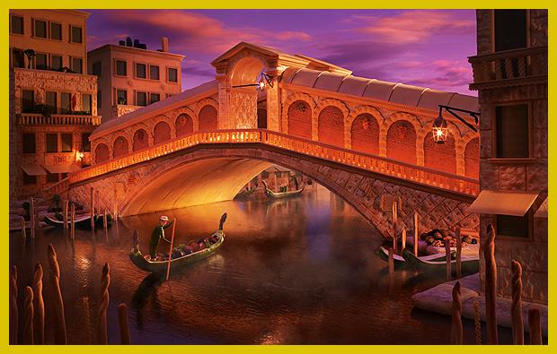 Rialto-híd, Velence, Olaszország - édes és ehető városkép