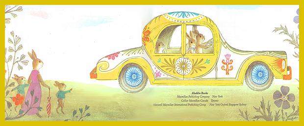 tojás helyett díszítőfestés az autón - húsvéti mesekönyv