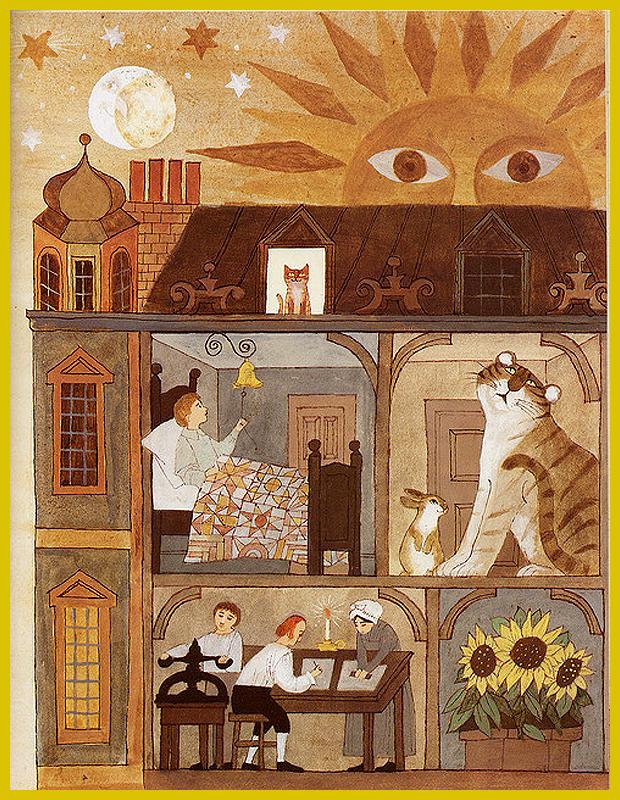 vendégségben William Blake fogadójában - a költő, grafikus, nyomdász munka közben - ifjúsági könyv