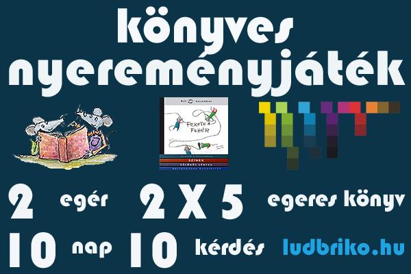 könyvnyereményjáték - Két Egér Könyvesbolt és ludbriko.hu