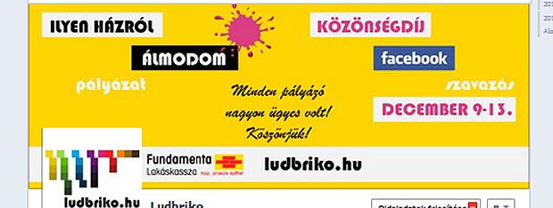 facebook közönségszavazás - Fundamenta Lakáskassza és ludbriko.hu