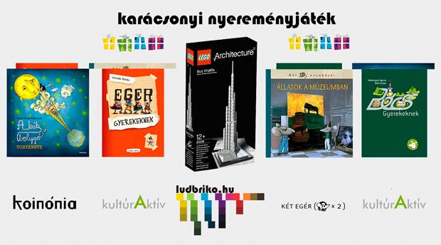 karácsonyi nyereményjáték -  Koinónia Kiadó, a Két Egér Könyvesbolt, kultúrAktív egyesület, ludbriko.hu