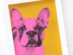 Így készül a pop-art kutyus