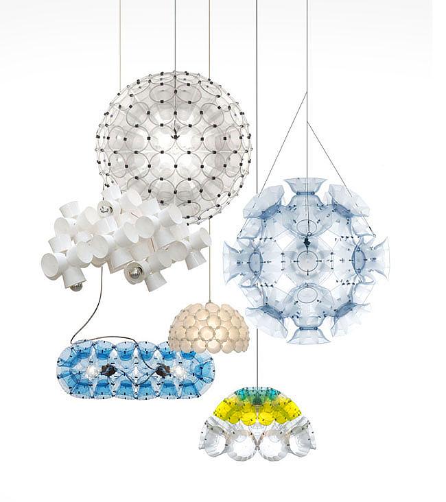 lámpák műanyagpoharakból - újrahasznosítás