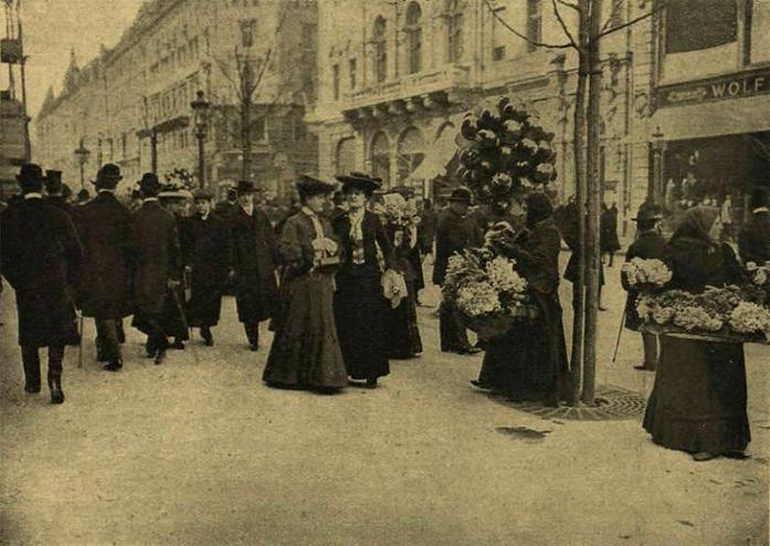 Déli kép a Kossuth Lajos utcából - 1905