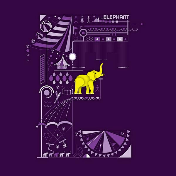 elefánt - tipográfia