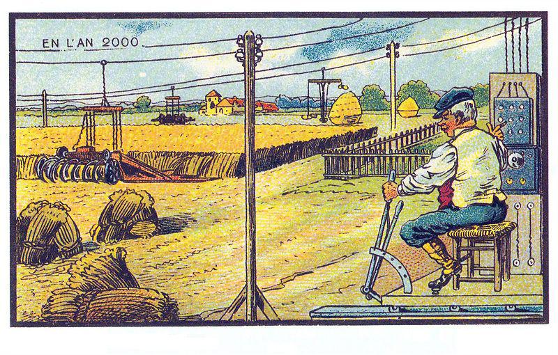 gépesített mezőgazdaság - ahogy a XX század elején elképzelték