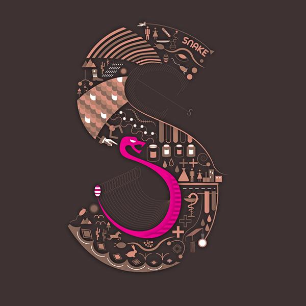 kígyó - mesélő betűk