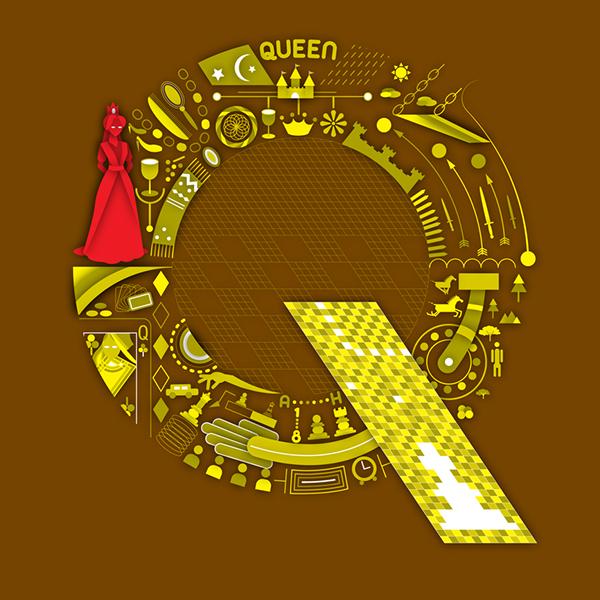 királynő - betűtervezés